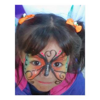 La Mariposa NIña Membrete A Diseño