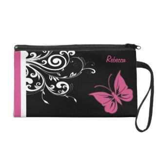 La mariposa personalizada remolina rosa del