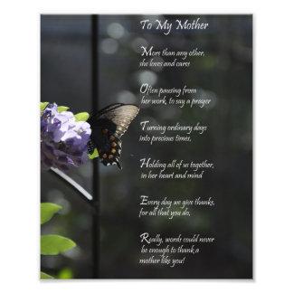 """La mariposa preciosa """"a mi madre"""" le agradece poem impresiones fotograficas"""