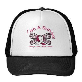 La mariposa principal del cáncer del cuello soy un gorros