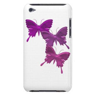 La mariposa púrpura diseña el caso de iTouch Cubierta Para iPod De Barely There