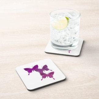 La mariposa púrpura diseña los prácticos de costa  posavaso