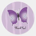 La mariposa púrpura le agradece pegatina