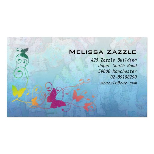 La mariposa remolina azul tarjetas de visita