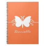 La mariposa remolina cuaderno, naranja