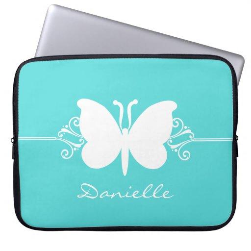 La mariposa remolina manga del ordenador portátil, manga portátil