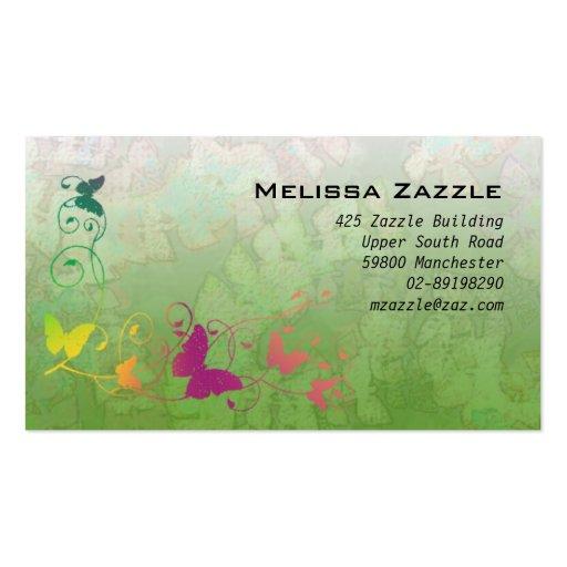 La mariposa remolina verde tarjetas personales