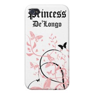 La mariposa rosada del remolino personalizó la caj iPhone 4 cárcasas