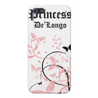 La mariposa rosada del remolino personalizó la caj iPhone 5 protectores