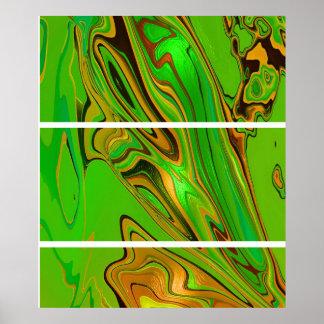 La mariposa se va volando el oro verde póster
