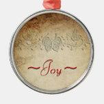 """La mariposa Shadowbox el ornamento de la """"alegría"""" Ornamento De Navidad"""