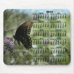 La mariposa soña 2012 el calendario Mousepad Alfombrillas De Raton