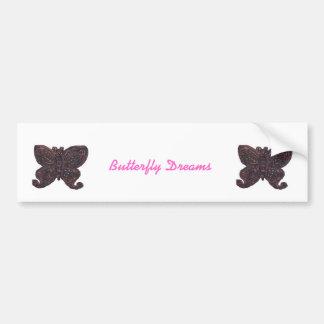 La mariposa soña a la pegatina para el parachoques pegatina para auto