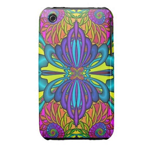 La mariposa soña fractal iPhone 3 Case-Mate coberturas