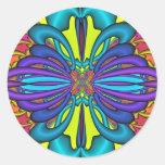 La mariposa soña fractal pegatinas redondas