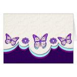 La mariposa soña la tarjeta (el espacio en blanco)