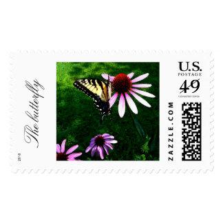 La mariposa timbres postales
