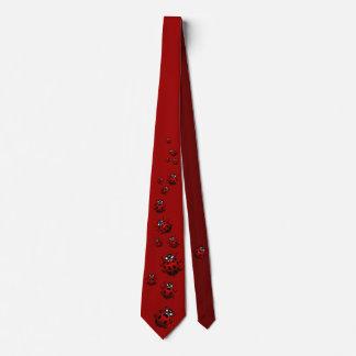 La mariquita ata personalizar de las corbatas de corbatas