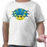 La mariquita azul y amarilla embroma la camiseta