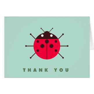 La mariquita/la mariquita le agradece tarjeta de felicitación