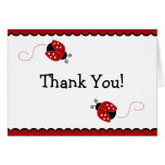 La mariquita negra y roja le agradece tarjeta de n
