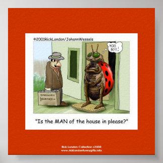 La mariquita publica el dibujo animado en el poste posters