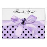 La mariquita púrpura de la lavanda le agradece las tarjetón