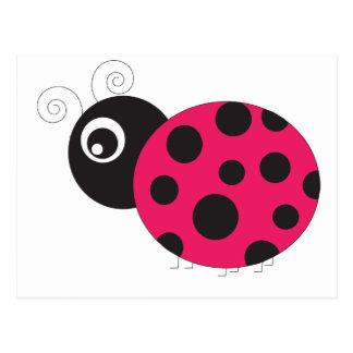 La mariquita rosada y negra se descoloró postales
