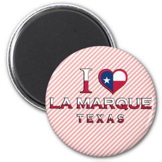 La Marque, Texas 2 Inch Round Magnet