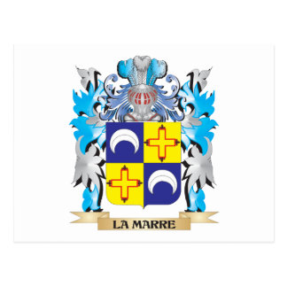 La-Marre Coat of Arms - Family Crest Postcard