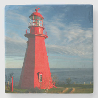La Martre Lighthouse | Matane On The Gaspe Stone Coaster