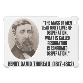 La masa de Henry David Thoreau de hombres lleva vi