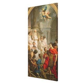 La masa de la albahaca del St. (aceite en lona) Impresión En Lona
