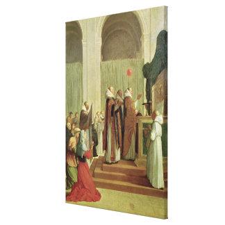La masa de San Martín de viajes, 1654 Impresión En Lienzo Estirada