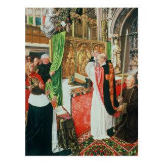 La masa de St Giles, c.1500 Tarjeta Postal