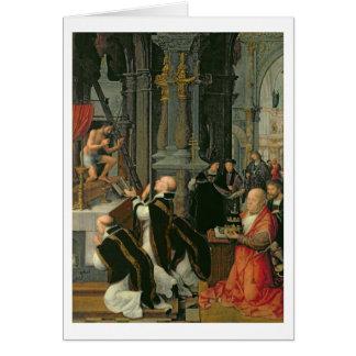 La masa de St Gregory (aceite en lona) Tarjeta De Felicitación