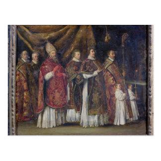 La masa pontifical o, la procesión tarjeta postal