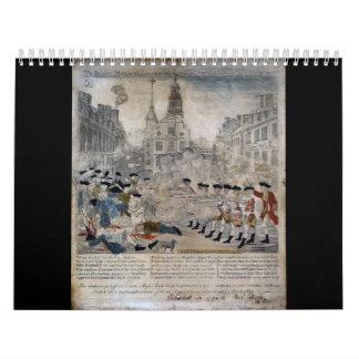 La masacre de Boston de Paul Revere 1770 Calendarios De Pared