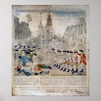 La masacre de Boston Impresiones