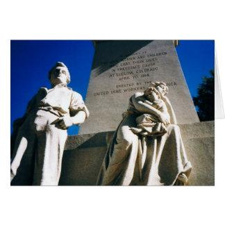 La masacre histórica de Ludlow del 20 de abril de Tarjeta De Felicitación