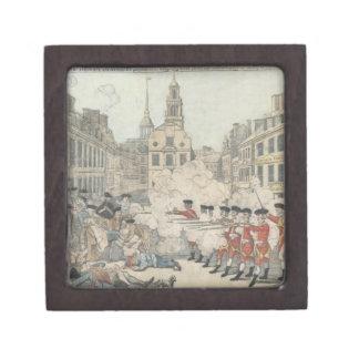 La masacre sangrienta - Paul Revere (1770) Caja De Regalo De Calidad