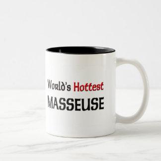 La masajista más caliente de los mundos taza