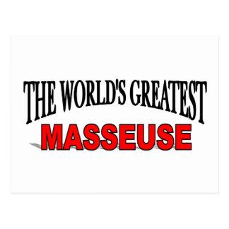 La masajista más grande del mundo tarjeta postal
