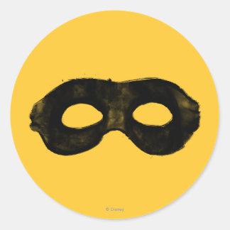 La máscara 2 del guardabosques solitario pegatina redonda