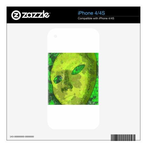 La máscara calcomanías para el iPhone 4