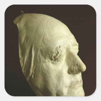 La máscara de Goethe, 1807 Pegatina Cuadrada