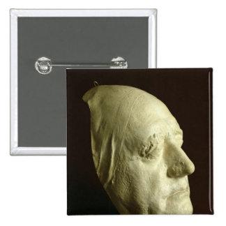 La máscara de Goethe, 1807 Pin Cuadrada 5 Cm