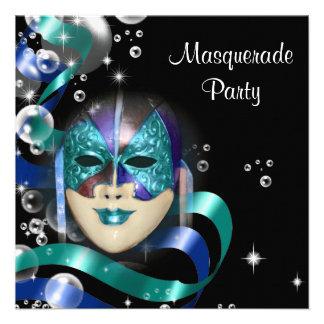 La máscara de la mascarada de Quinceanera PERSONAL Invitaciones Personalizada
