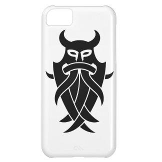 La máscara de Odin tribal (negro) Funda Para iPhone 5C