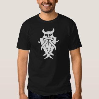 La máscara de Odin tribal (negro) Poleras